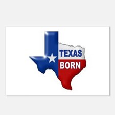 TEXAS BORN Postcards (Package of 8)