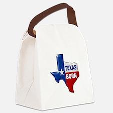 TEXAS BORN Canvas Lunch Bag