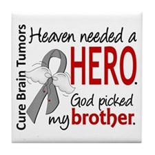 Brain Tumor HeavenNeededHero1 Tile Coaster