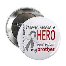 """Brain Tumor HeavenNeededHer 2.25"""" Button (10 pack)"""