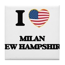 I love Milan New Hampshire Tile Coaster