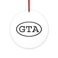 GTA Oval Ornament (Round)