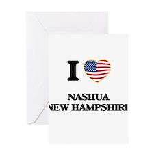 I love Nashua New Hampshire Greeting Cards