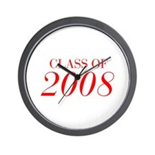 CLASS OF 2008-Bau red 501 Wall Clock