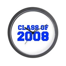 CLASS OF 2008-Fre blue 300 Wall Clock