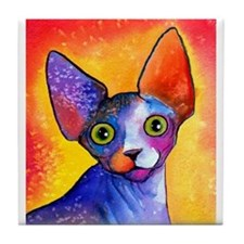"""SPHYNX CAT 3 Tile Coaster 4.25X4.25"""""""