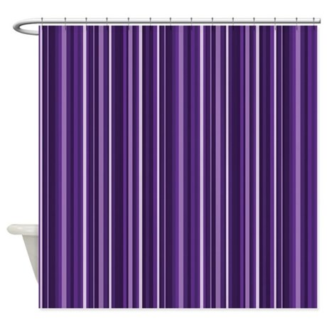 Purple Stripes Shower Curtain By Decorativedecor
