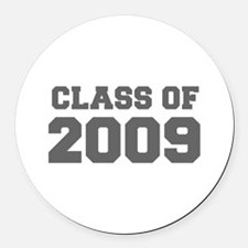 CLASS OF 2009-Fre gray 300 Round Car Magnet