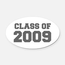 CLASS OF 2009-Fre gray 300 Oval Car Magnet