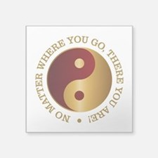Yin Yang (Gold-Maroon) Sticker