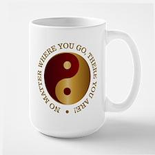 Yin Yang (Gold-Maroon) Mugs