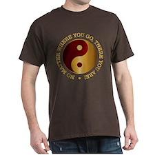 Yin Yang (Gold-Maroon) T-Shirt