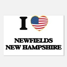 I love Newfields New Hamp Postcards (Package of 8)