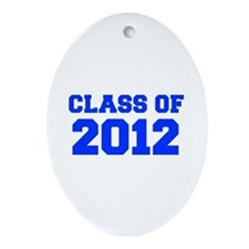 CLASS OF 2012-Fre blue 300 Ornament (Oval)