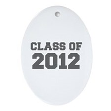 CLASS OF 2012-Fre gray 300 Ornament (Oval)