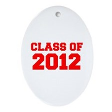 CLASS OF 2012-Fre red 300 Ornament (Oval)