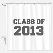 CLASS OF 2013-Fre gray 300 Shower Curtain