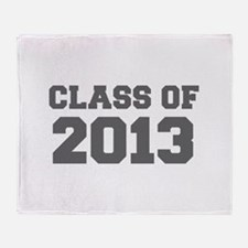 CLASS OF 2013-Fre gray 300 Throw Blanket