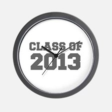 CLASS OF 2013-Fre gray 300 Wall Clock