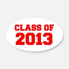 CLASS OF 2013-Fre red 300 Oval Car Magnet
