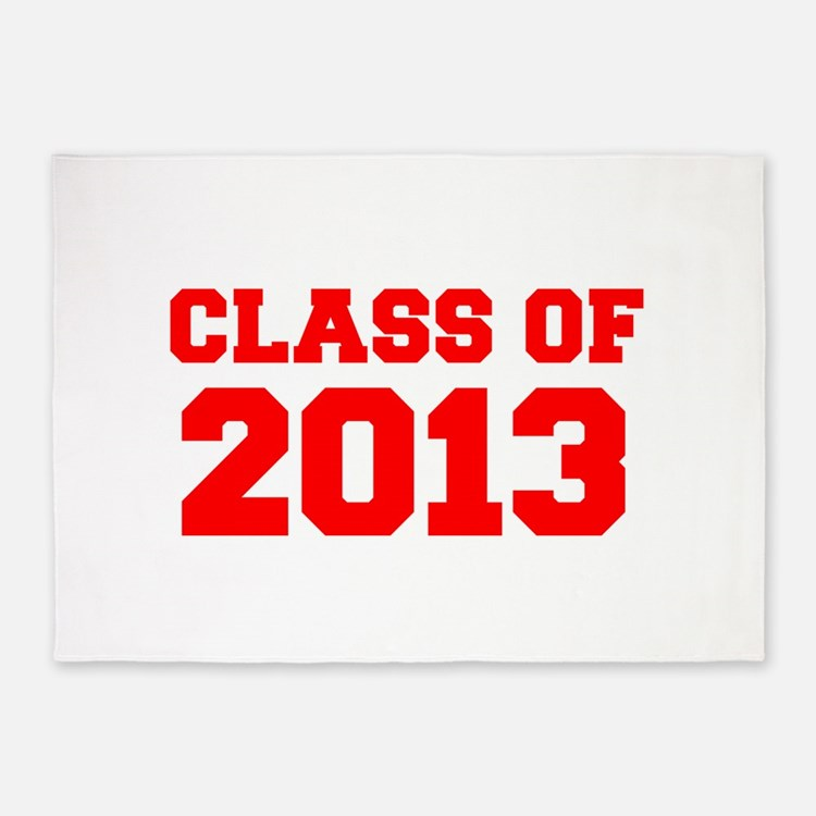 CLASS OF 2013-Fre red 300 5'x7'Area Rug