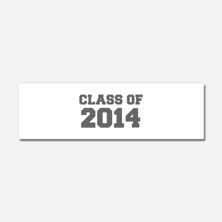 CLASS OF 2014-Fre gray 300 Car Magnet 10 x 3