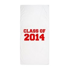 CLASS OF 2014-Fre red 300 Beach Towel