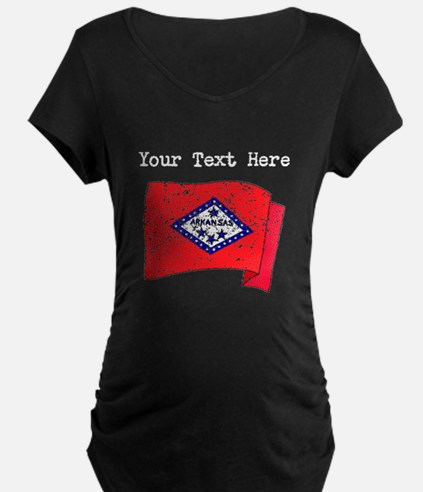 Arkansas State Flag (Distressed) Maternity T-Shirt