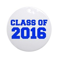 CLASS OF 2016-Fre blue 300 Ornament (Round)