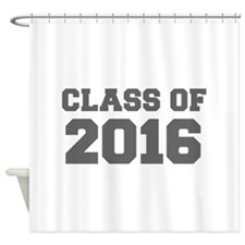 CLASS OF 2016-Fre gray 300 Shower Curtain