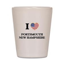 I love Portsmouth New Hampshire Shot Glass
