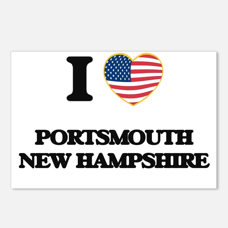 I love Portsmouth New Ham Postcards (Package of 8)