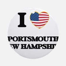 I love Portsmouth New Hampshire Ornament (Round)