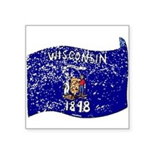 Wisconsin State Flag (Distressed) Sticker
