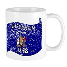 Wisconsin State Flag (Distressed) Mugs