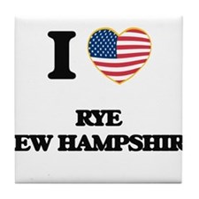 I love Rye New Hampshire Tile Coaster