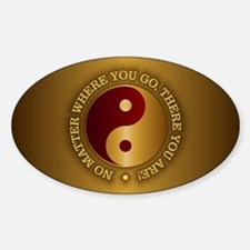 Yin Yang (Gold-Maroon) Decal