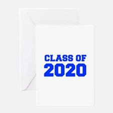 CLASS OF 2020-Fre blue 300 Greeting Cards