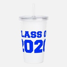 CLASS OF 2020-Fre blue 300 Acrylic Double-wall Tum