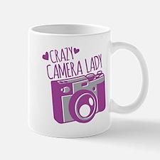 Crazy Camera Lady Mugs