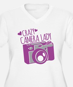 Crazy Camera Lady Plus Size T-Shirt