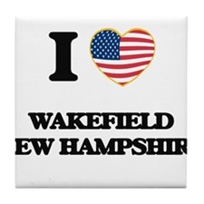 I love Wakefield New Hampshire Tile Coaster