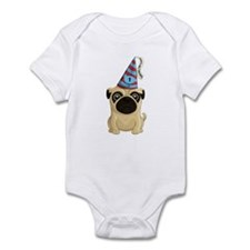Happy 1st Birthday Pug Infant Body Suit