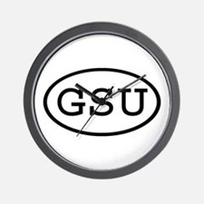 GSU Oval Wall Clock