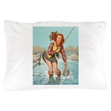 pinup fishing ! Pillow Case