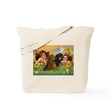 Angels & Dachshund Pair Tote Bag