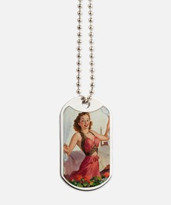 Pinup at the Garden ! Dog Tags
