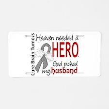 Brain Tumor HeavenNeededHer Aluminum License Plate