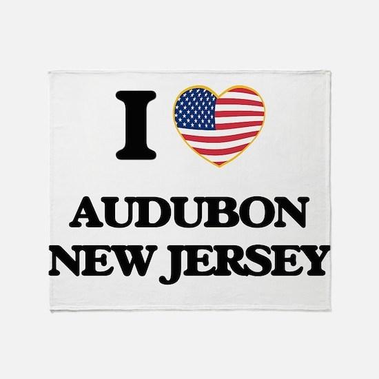 I love Audubon New Jersey Throw Blanket