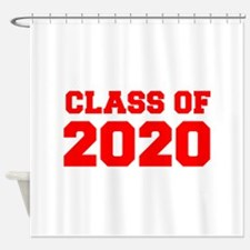 CLASS OF 2020-Fre red 300 Shower Curtain